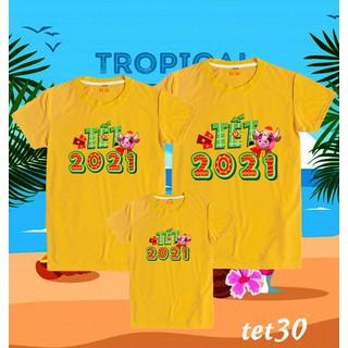 áo phông gia đình đón năm mới cực chất - áo phông gia đình thumbnail