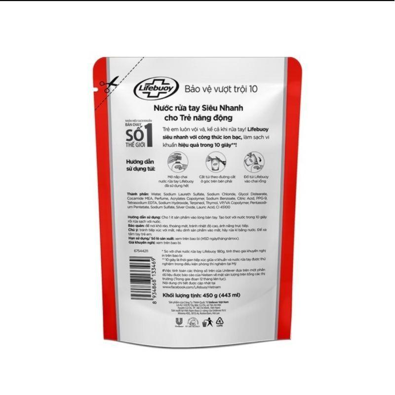 Túi Nước Rửa Tay Lifebuoy 450g - Túi Nước Rửa Tay Lifebuoy 1