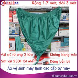 Túi rửa máy lạnh vải dù cao cấp tự may, siêu bền, không bám nước, dài 3 mét, rộng 1.7 mét. Áo bạt bao phủ trùm hứng nước vệ sinh điều hòa