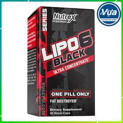 Giảm Cân Đốt Mỡ Nutrex - Lipo-6 Black Ultra Concentrate (60 viên)
