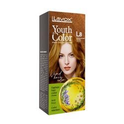 Nhuộm Tóc Màu Thời Trang Vàng Gỗ L8 LAVOX [Tặng Kèm Chai Oxy Trợ Nhuộm + 1 Gói Dầu Xả Giữ Màu Tóc + Găng Tay]