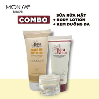 Bộ 3 sản phẩm dưỡng da hara white kem dưỡng da mặt, kem dưỡng body lotion và sữa rửa mặt - BO 3 SP thumbnail