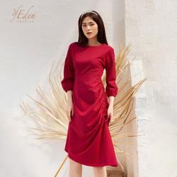 Váy Đầm Nữ Thời Trang Eden Tay Lỡ Rút Dây - D419