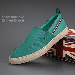 Slip on nam 2020 - Giày lười vải nam cao cấp - Chất liệu vải polyester (gió) chống thấm 5 màu tuyệt đẹp - Mã 20835