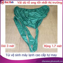 Bao hứng nước vệ sinh máy lạnh vải dù cao cấp tự may, siêu bền, không bám nước, dài 3 mét, rộng 1.7 mét. Túi áo bạt phủ trùm rửa điều hòa