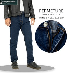Quần jean nam ống suông vải dày đẹp hàng chuẩn classic
