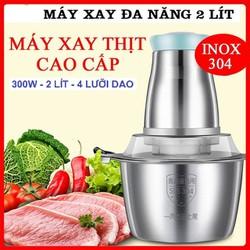 Máy xay thịt cá đa năng, xay giò trả cối Inox 304 loại 2L