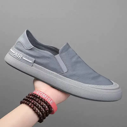 Giày slip on -AIR- - giày lười vải đế khâu - Chất liệu vải polyester 2 màu xám và xanh rêu - Mã [JE301]
