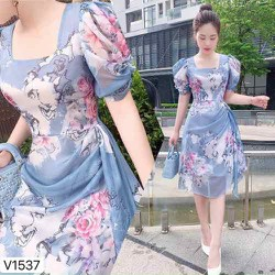 Đầm hoa lụa nữ thời trang