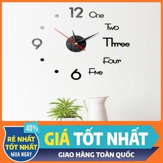 [Freeship] Đồng hồ dán tường - đồng hồ kết hợp chữ và số - DHDTTT-1 thumbnail