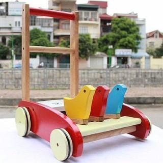 Xe Đẩy Tập Đi Bằng Gỗ Hình 3 Con Gà Cho Bé,Trẻ Em - GDMC604 thumbnail