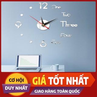 Đồng hồ trang trí dán tường 3D - Đồng hồ - DHDTTT-1 thumbnail