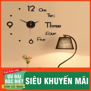 Đồng hồ trang trí dán tường 3D - Đồng hồ phong cách Châu Âu - DHDTTT-1 thumbnail