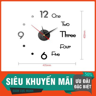 Đồng Hồ 3d Tráng Gương Dán Tường - DHDTTT-1 thumbnail