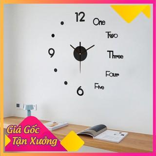 Đồng Hồ Dán Tường Treo Tường Thiết Kế 3D - DHDTTT-1 thumbnail