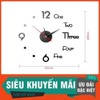 Đồng hồ dán tường 3D - Đồng hồ dán tường 3D - DHDTTT-1 thumbnail