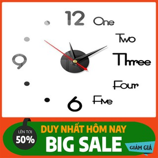 Đồng hồ trang trí dán tường 3D - DHDTTT-1 thumbnail