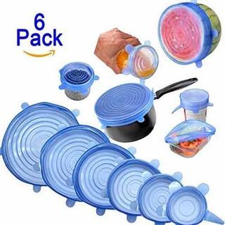 Combo 6 nắp đậy silicon cho nhà bếp - 6 nắp đậy thức ăn silicon thumbnail