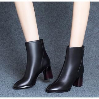 Giày Bốt Nữ Cổ Lửng Gót Trụ 7cm Mã H90 - Bốt H90 thumbnail