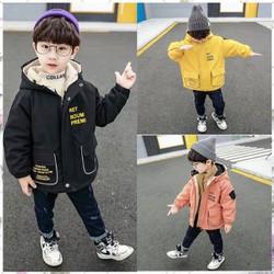 áo phao lót lông ấm áp from đẹp cho bé trai bé gái H0192