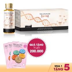 Collagen Adiva Dạng Nước 14 lọ x 30ml + Quà 5 Mặt Nạ Muti - Care Vitamin Mask (1 Miếng x 25ml) Giá 200k