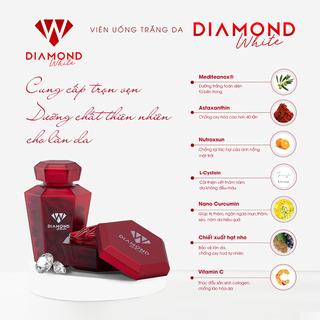 VIÊN UỐNG TRẮNG DA DIAMOND WHITE HỘP 60 VIÊN - DIAMOND WHITE HỘP 60 VIÊN thumbnail