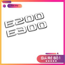 Decal Tem Chữ E300 E200 Dán Đuôi Xe Ô Tô