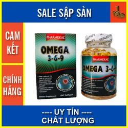 Viên Dầu Cá Omega3-6-9 Pharmekal - giải pháp hỗ Trợ Tim Mạch và Tăng Cường Trí Nhớ - omega369 - top1 pharmacy