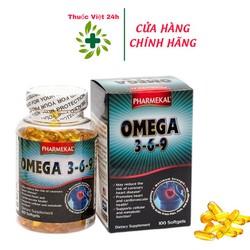 Viên Dầu Cá Omega3-6-9 Pharmekal - Hỗ trợ tim mạch và tăng cường trí nhớ - omega369 - Hộp 100 viên
