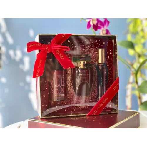 Hộp quà tặng giftset very sexy của victoria secret's gift fragrance phiên bản xmas 2020 của mỹ chai 50ml edp