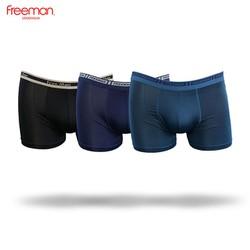 Quần lót nam Freeman, kiểu dáng boxer, chất liệu thun lạnh thoáng mát, thiết kế thun đai lưng nổi bật bản lớn [Combo 3] BO763