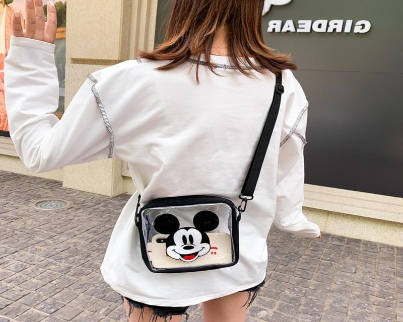 Túi đeo chéo - CÓ VIDEO - Túi đeo chéo chuột trong suốt - B106 7