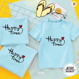 Áo Gia Đình Happy Time - Có Nhiều Màu - Thun Cotton GD315BM - GD315BM thumbnail
