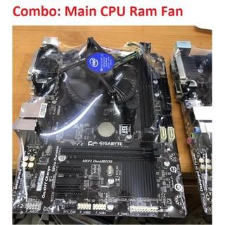 COMBO MAIN CPU FAN RAM các loại G31 G41 H61 H81 B75 ha ng đe p gia re - COMBO MAIN CPU FAN RAM thumbnail