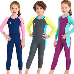 Đồ bơi cho bé dài tay cao cấp DIVE & SAIL chống nắng và tia UV toàn thân cho bé trai bé gái từ 3 đến 11 tuổi BBShine – DB014