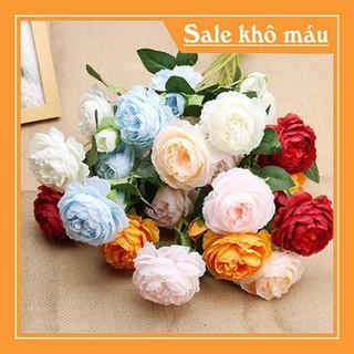 Combo 10 cành hoa hồng lụa cao cấp - HHL-1 thumbnail