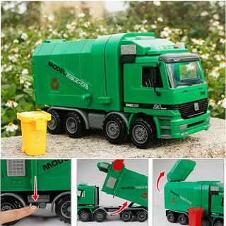Đồ chơi trẻ em mô hình ô tô Xe chở rác cỡ lớn xe chạy đà có âm thanh và đèn - LT47N thumbnail