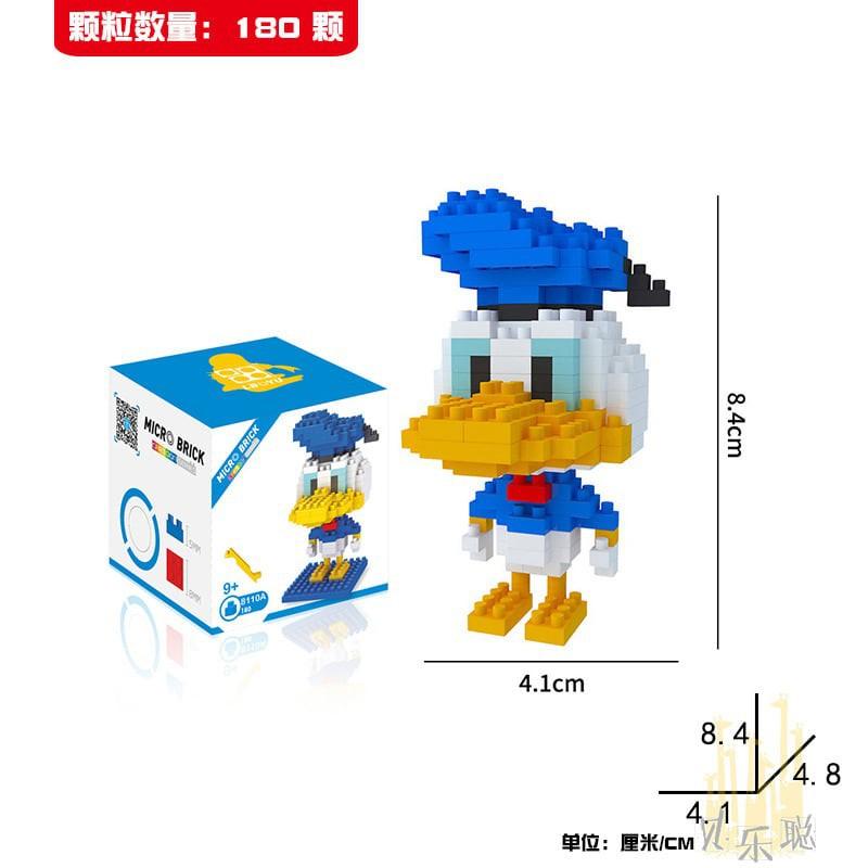 Mini Blocks - Mô hình lắp ghép Mickey & Friends - size S (Cao dưới 10cm) - Mickey-S 5
