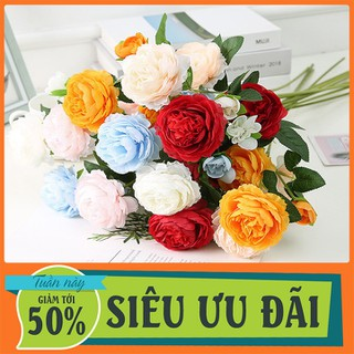 Hoa hồng giả lụa đẹp tinh tế - HC- hoa hồng - Hoa hồng giả thumbnail