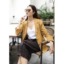 Áo khoác vest blazer chất thô mềm mại cá tính