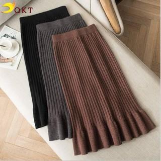Chân váy len QKT chân váy đuôi cá gân nổi dày đẹp QK16 - QK16 thumbnail