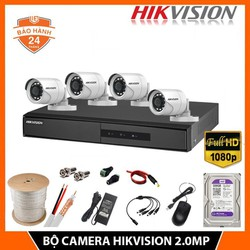 Trọn Bộ camera giám sát HIKVISION 2.0MPX - Bộ 4 mắt FHD 1080P - Tặng kèm HDD 500GB  Đủ phụ kiện tự lắp đặt - Bảo hành 24 Tháng [ĐƯỢC KIỂM HÀNG] [ĐƯỢC KIỂM HÀNG] [ĐƯỢC KIỂM HÀNG]