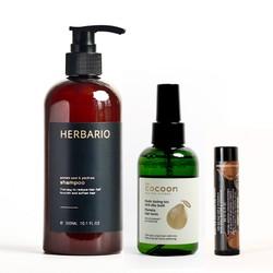 Bộ tinh dầu bưởi cocoon và dầu gội bưởi herbario kích thích mọc tóc, giảm rụng tóc (Tặng 1 Son dưỡng)