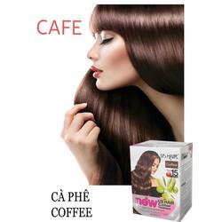 (10 gói màu Coffee) dầu gội nhuộm tóc phủ bạc usa us hair chỉ 15 phút phủ tóc bạc