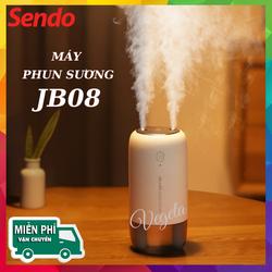 ( Bảo Hành 12 Tháng ) Máy phun sương Jisulife JB08 - Tạo ẩm không khí và giữ ẩm da 500ml - Hai chế độ phun đơn và kép – Máy tạo ẩm không gian thư giãn kiêm đèn ngủ LED để bàn tiện lợi, hoạt động tối đa 10 giờ liên tục
