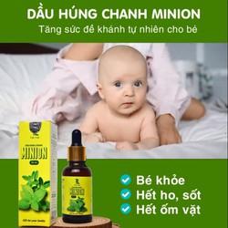 Tinh dầu húng chanh Minion 30ml - Hỗ trợ ho, đờm, khò khè, sổ mũi, tăng đề kháng hệ miễn dịch