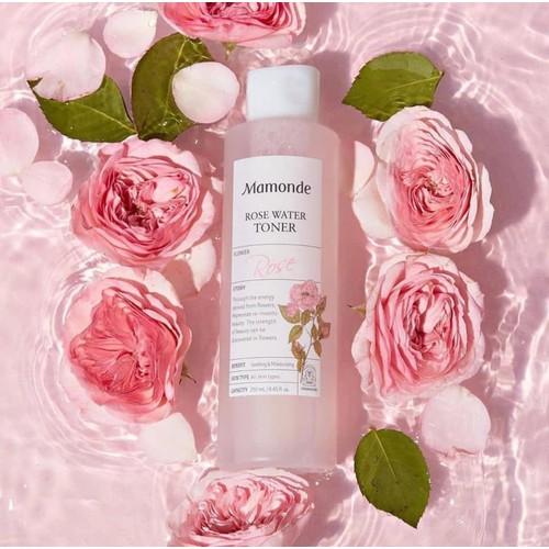 Nước hoa hồng mamode  250ml, rose water toner mamonde