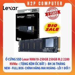 Ổ cứng Ssd Lexar 250g M2 NVME - New - Chính hãng Mai Hoàng - BH 36T