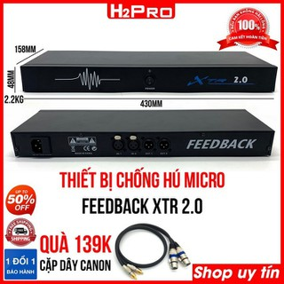 Thiết Bị Chống Hú Micro Feedback XTR 2.0 H2Pro Chính hãng, thiết bị Chống Hú Loại 2 micro ( tặng cặp dây canon 139K ) - H2WW472 thumbnail