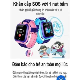 Đồng hồ định vị trẻ em Q12 chống nước lắp được sim - 8600406230 3